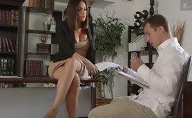 Naughty Office Secretary Seduced Business Partner to Signed