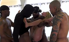 Drunk Blonde Girl Entered Into Wrong Room on Party - BBC Gangbang