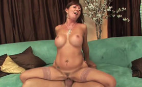 Busty MILF Rides Cuckold and JIzzed Face
