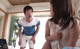 Caught Slutty Asian Girl Have Masturbating
